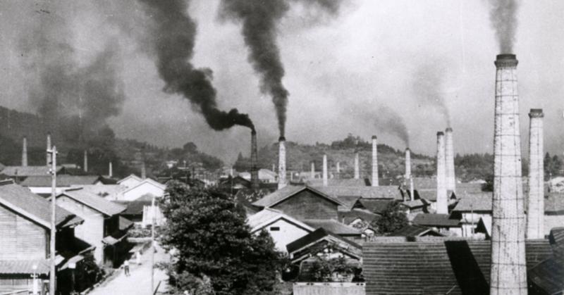 陶町煙突の風景